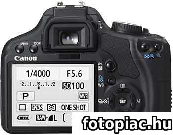 A digitális fényképezőgép hátsó LCD képernyőjén a felvétel és más hasznos információk is megtekinthetőek
