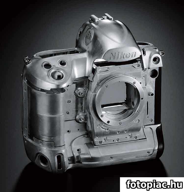 Egy digitális tükörreflexes fényképezőgép fém váza